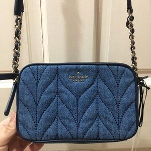 HP🎉 NEW Kate Spade Denim Crossbody Purse Bag